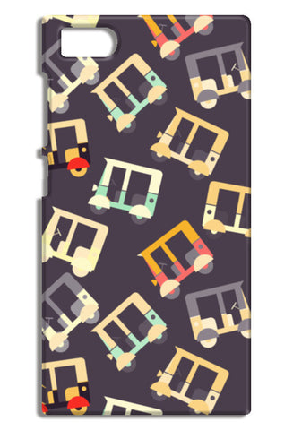 Auto rickshaw quirky pattern Mi3-M3 Cases | Artist : Designerchennai