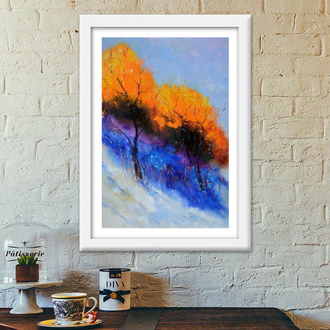 Two magic trees Premium Italian Wooden Frames | Artist : pol ledent