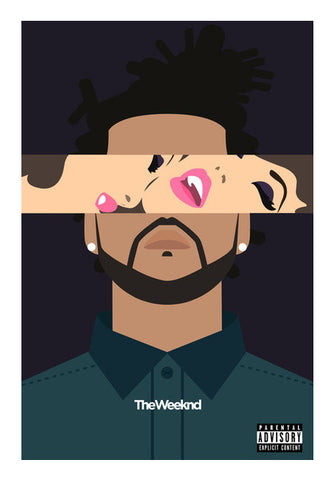THE WEEKND #2 Wall Art | Artist : Naman Kapoor