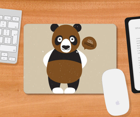Mr.Panda Mousepad | Artist : Designerchennai