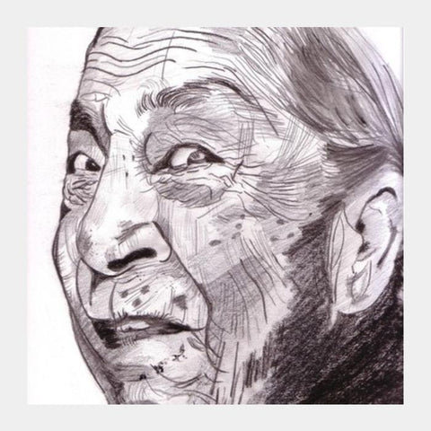 PosterGully Specials, Zohra Sehgal had an amazing zest for life Square Art Prints | Artist : HeartAtArt, - PosterGully