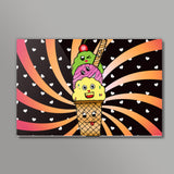 Ice Cream Wall Art  | Artist : Design_Dazzlers