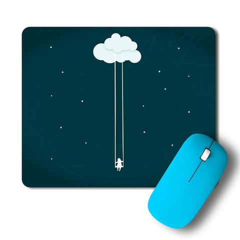 Dream Girl Swinging On Cloud Artwork Mousepad