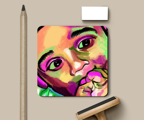 INNOCENCE #baby #kids #colorful #portrait #people #painting #sketches # Coasters | Artist : Jessica Maria