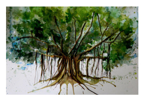 Banyan Tree Wall Art  | Artist : Tara Isha