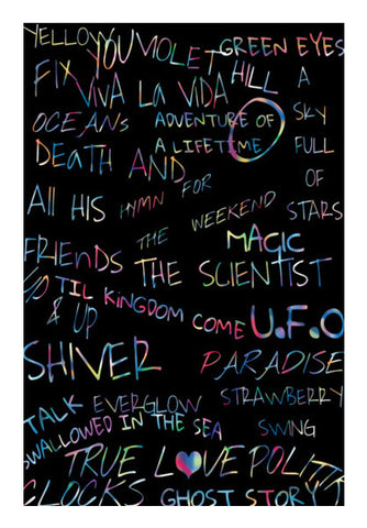 COLDPLAY | SONGS Wall Art | Artist : SREY