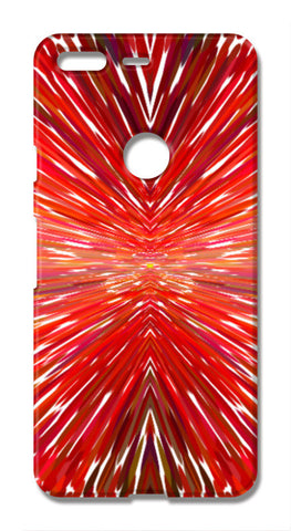 Abstract Red Burst Modern Design Google Pixel XL Cases | Artist : Seema Hooda