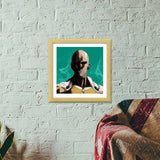 Premium Square Italian Wooden Frames, One Punch Man Premium Square Italian Wooden Frames | Artist : Shashanka Beshra, - PosterGully - 5