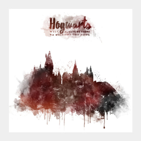 Harry Potter Hogwarts Square Art Prints | Artist : Naeema Rezmin