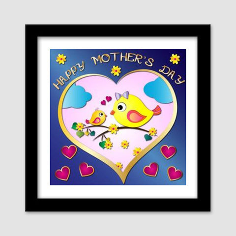 Happy Mother's Day Premium Square Italian Wooden Frames | Artist : Madhumita Mukherjee