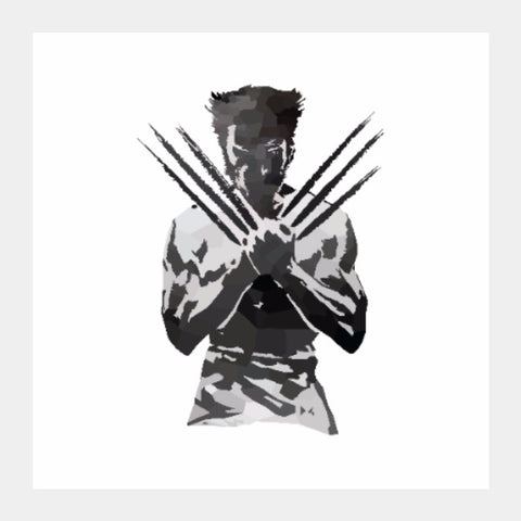 Square Art Prints, Low Poly Wolverine Art Print | Artist: Darshan Gajara, - PosterGully