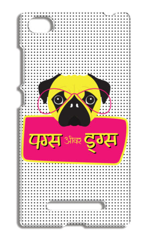 Pugs over Drugs Xiaomi Mi 4i Cases | Artist : Stuti Bajaj