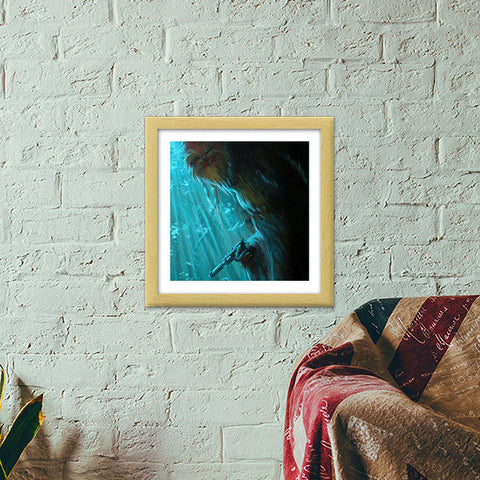 Premium Square Italian Wooden Frames, Who's Afraid of The Wookie - Painting Premium Square Italian Wooden Frames | Artist : Smeet Gusani, - PosterGully - 1