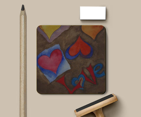 Coasters, love is Here Coasters | Artist : Aakriti, - PosterGully