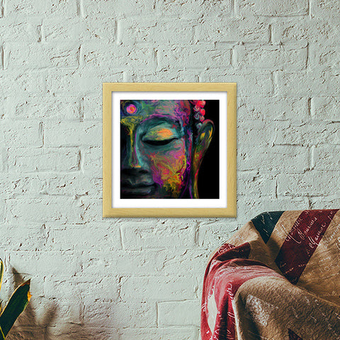 Inner Flame ---The mind is everything. What you think you become. -- Buddha Premium Square Italian Wooden Frames | Artist : I Art You