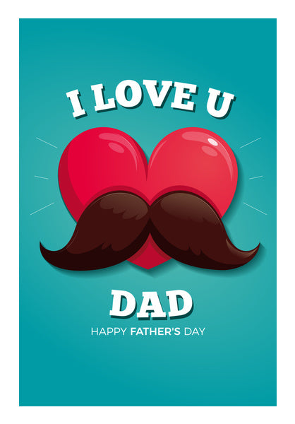 Love You Dad Fathers Day Special Wall Art Artist Creative Dj