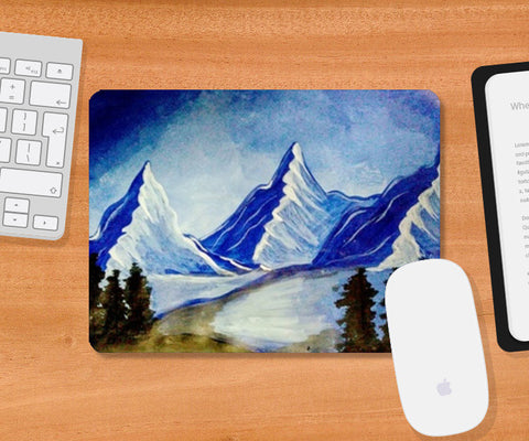 Mountains Nature Painting Mousepad | Artist : Pallavi Rawal
