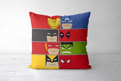 Minimalist Superheroes Cushion Covers | Artist : Ronak Mantri