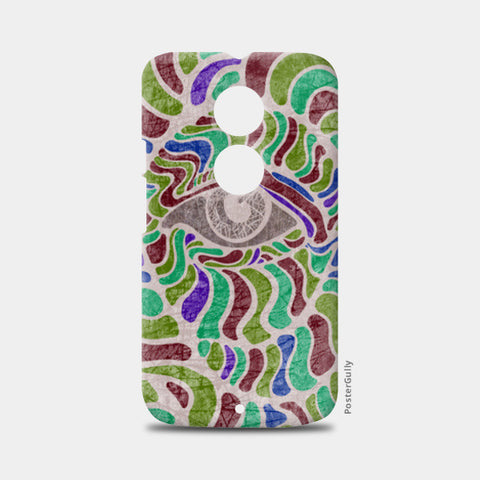 abstract eye colorful vector illustration Moto X2 Cases | Artist : Simran Sain