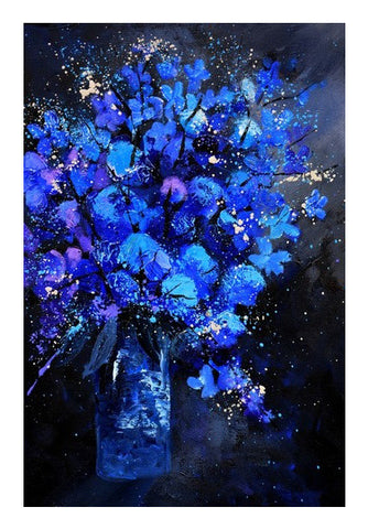 Wall Art, blue still life 4561 Wall Art | Artist : pol ledent, - PosterGully