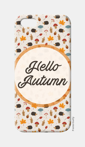 hello autumn iPhone 5 Cases | Artist : DISHA BHANOT