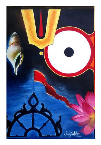 Lord Jagannath Wall Art | Artist : Saroj Meher