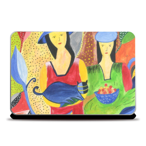Laptop Skins, Abstract Girls Laptop Skin | Artist : Teena Chauhan, - PosterGully