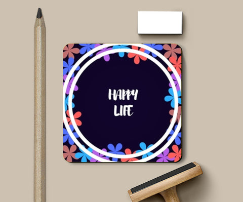 PosterGully Coasters, Happy Life Coasters | Artist : Pallavi Rawal, - PosterGully