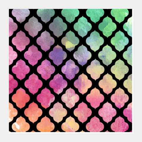 Watercolor Patterns Square Art Prints PosterGully Specials