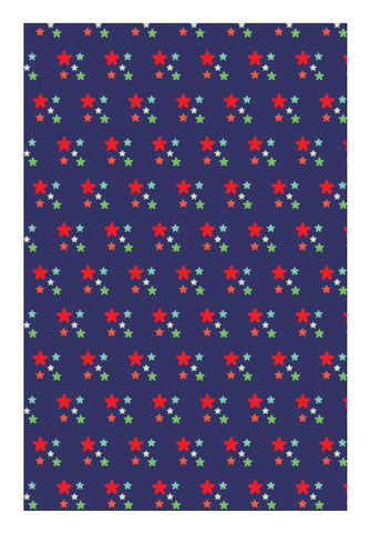 Floral Pattern Blue Art PosterGully Specials