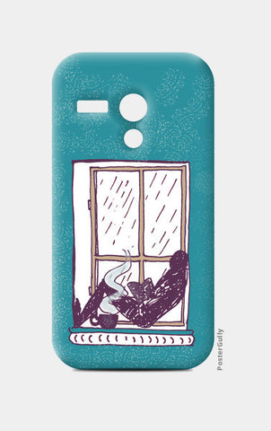 Moto G Cases, Reading in the rain Moto G Cases | Artist : Poornima Kumar, - PosterGully