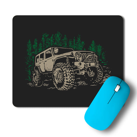 Adventure Jeep Travel Artwork Mousepad