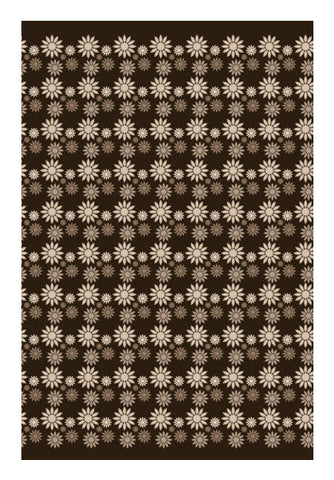 Brown Light And Dark Floral Pattern Art PosterGully Specials