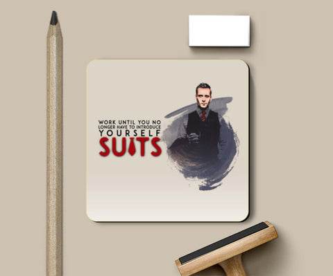 PosterGully Coasters, Suits | Harvey Specter | Quote Coasters | Artist : Vivid Corner, - PosterGully