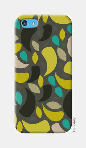Seamless leaf geometric shapes iPhone 5c Cases | Artist : Designerchennai