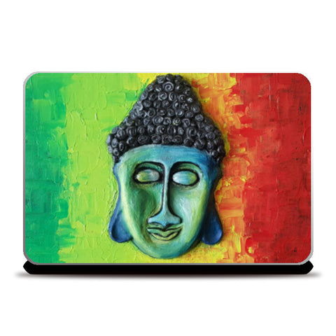 Sculpted Buddha by Lavanya Laptop Skins | Artist : Lavanya Subramanian