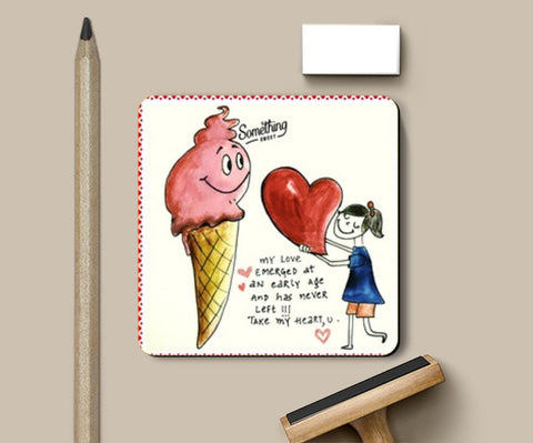 Love_Icecream Coasters | Artist : Surabhi Jha