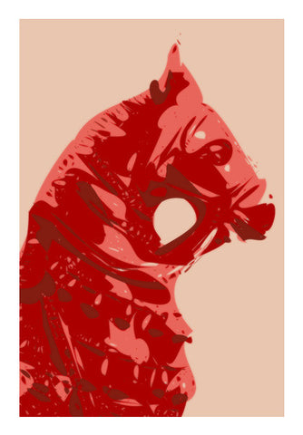 Abstract Horse Red Wall Art | Artist : Keshava Shukla