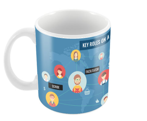 Conference Call Coffee Mugs | Artist : Scatterred Partikles