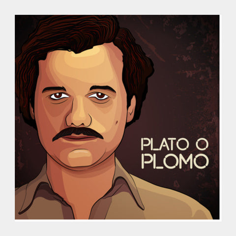 Square Art Prints, Narcos | Pablo Escobar Square Art Prints | Artist : Ashley Abraham, - PosterGully