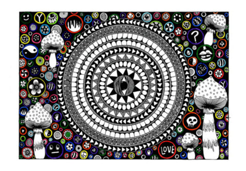 Third eye mandala  Wall Art  | Artist : mona singh