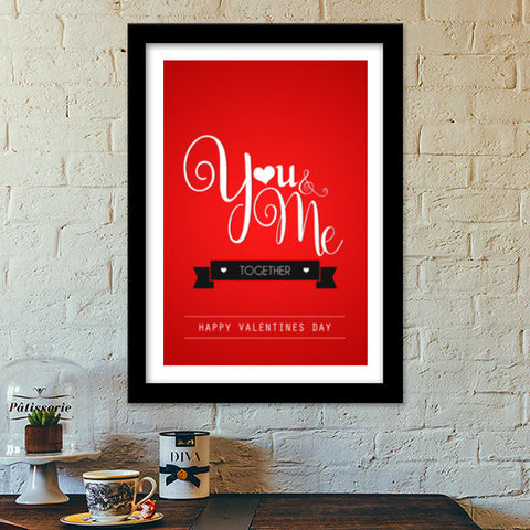 Premium Italian Wooden Frames, You & Me together Premium Italian Wooden Frames | Artist : Swapnil Deshpandey, - PosterGully - 1