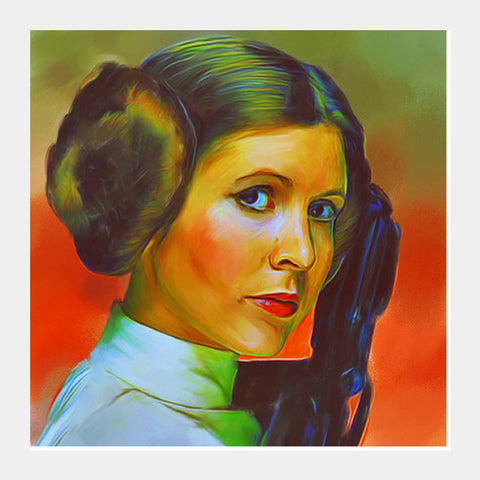 Carrie Fisher Square Art Prints | Artist : Delusion