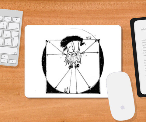Vitruvian Man, Ft. DA VINCI Mousepad | Artist : curiouserncuriouser