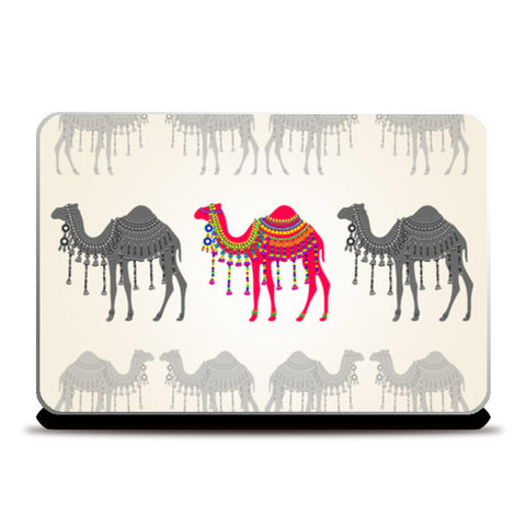 Rajasthani Decorated Camel  Laptop Skins | Artist : Rameshwar Chawla