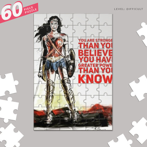 Wonder Woman quote Jigsaw Puzzles | Artist : Draw On Demand