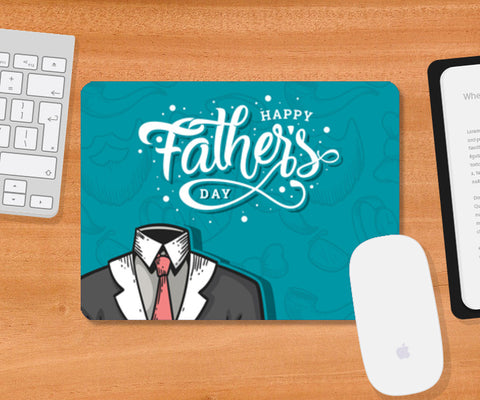 Dad Suit Happy Father's Day | #Father's Day Special   Mousepad | Artist : Creative DJ
