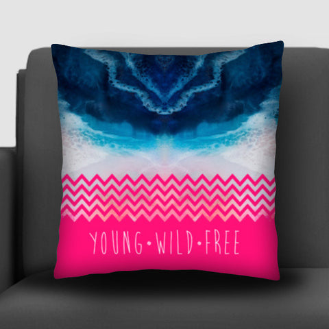 YOUNG | WILD | FREE Cushion Covers | Artist : Ved Uttam