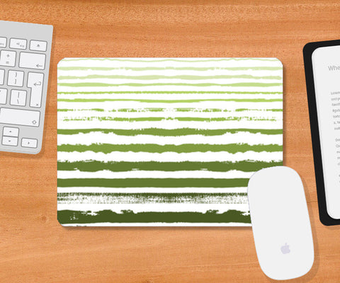 Uneven Green Stripes Mousepad | Artist : Amantrika Saraogi