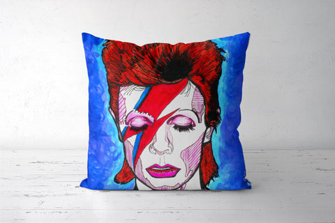 David Bowie - From Starman to Stardust Cushion Covers | Artist : Pop Goes The Easel